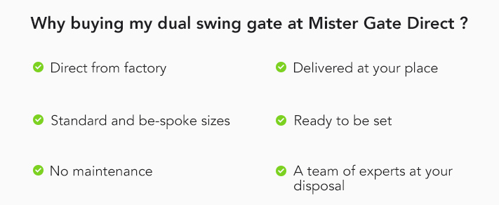 Why buying my dual swing gate at MGD