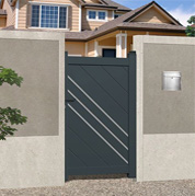 Pedestrian gates - plain boarded