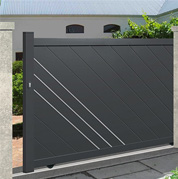 Sliding gates - plain boarded