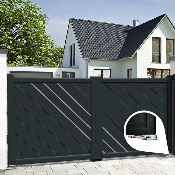 Dual swing gates - integrated automation