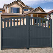 Dual swing gates - mixed infill