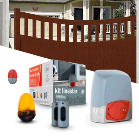 Sliding gate automation Kit MOTOSTAR - LINESTAR 400 Kg