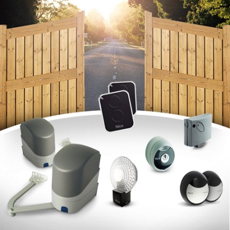 Electric gate opener NICE PopKit for dual swing gates