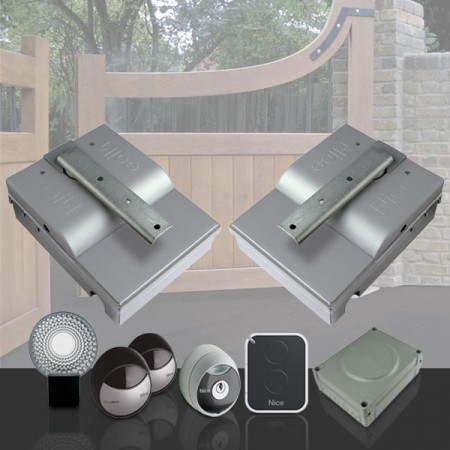 Electric gate opener NICE MetroKit for dual swing gates - underground
