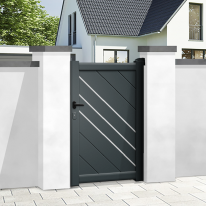 Aluminium pedestrian gate ORLEANS - Integrated automation