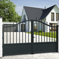 Aluminium dual swing gate CAMBRIDGE