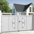 Aluminium dual swing gate ATLANTA
