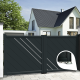 Aluminium dual swing gate ORLEANS - Integrated automation