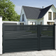 Unequal double swing gate BRAGA