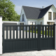Unequal double swing gate KINLEY