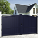 Aluminium dual swing gate ADRIATIQUE