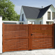 Aluminium dual swing gate DENIA